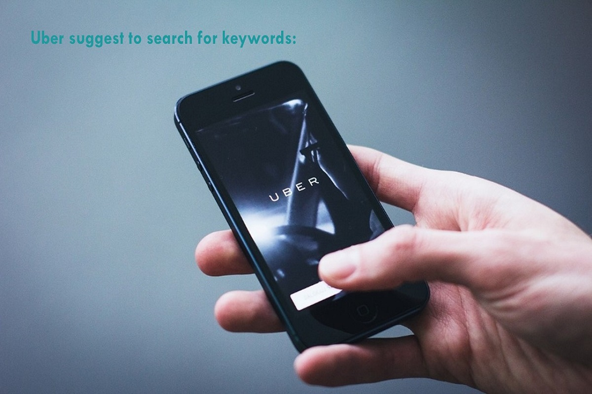 Uber suggest to search for keywords