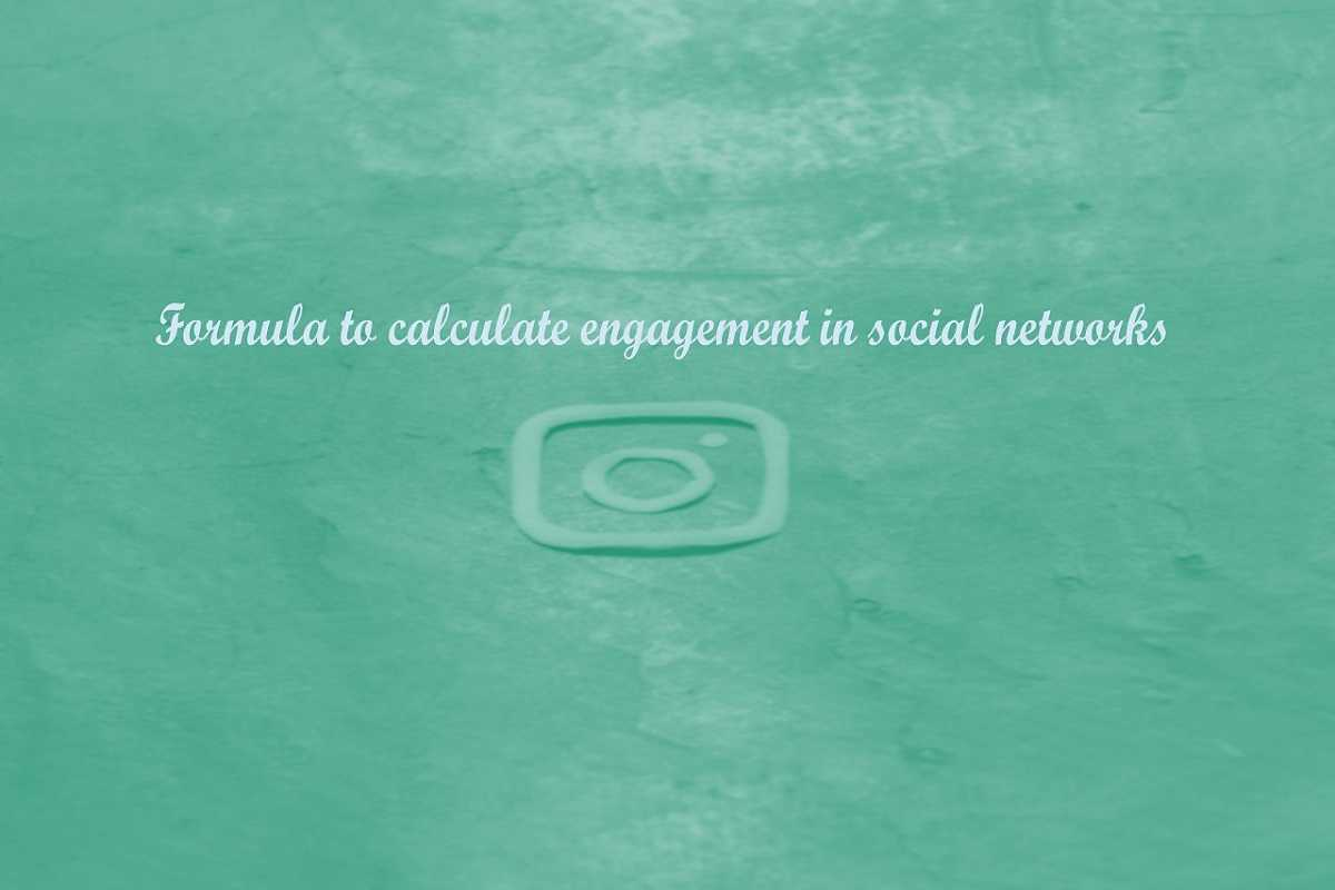 Formula to calculate engagement in social networks