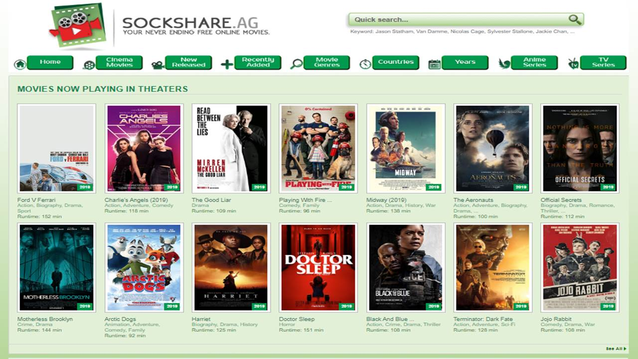 Sockshare – Watch Latest Movies Free in HD in 2020.