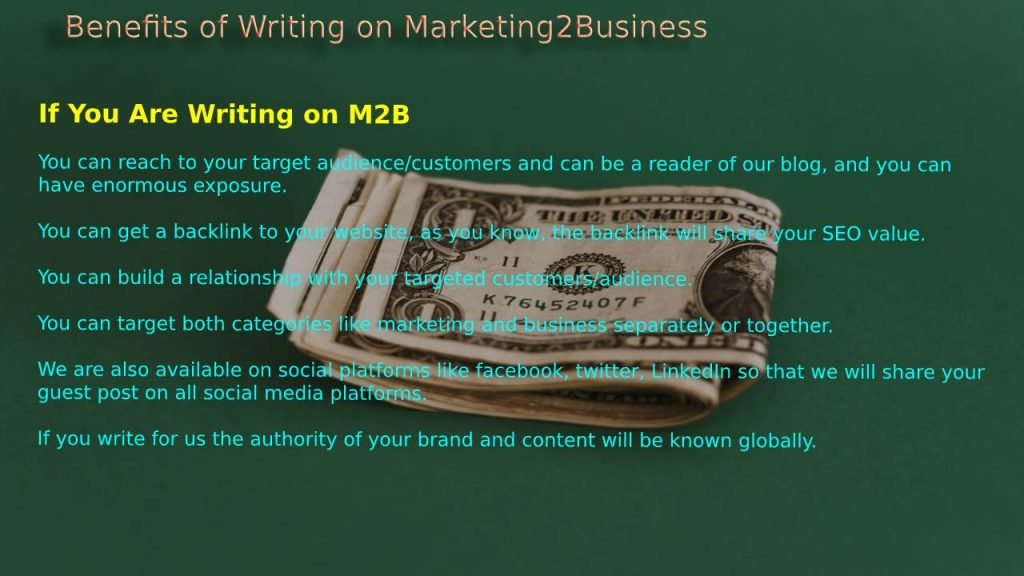 Benefits of Writing on Marketing2Business