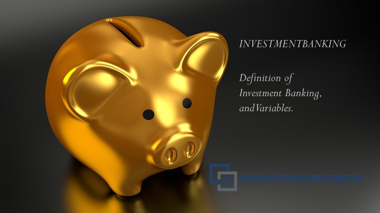 INVESTMENT BANKING : Definition of Investment Banking, and Variables.