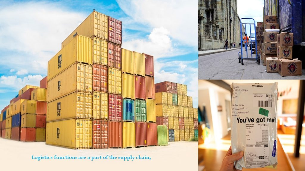 Logistics functions are a part of the supply chain