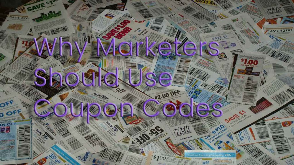 Why Marketers Should Use Coupon Codes