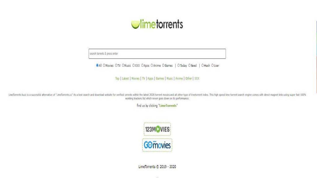 Limetorrents a site like Torrent king - 2020