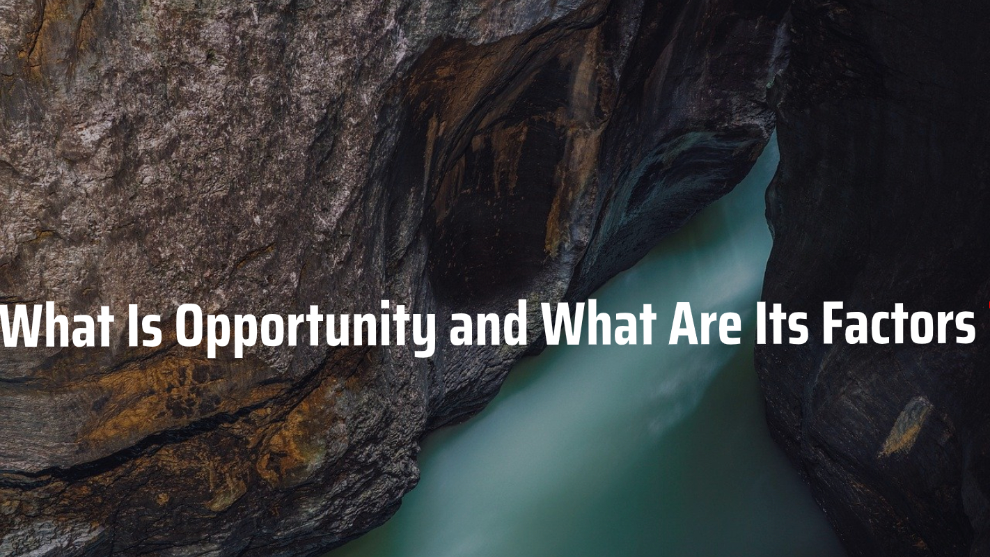 What Is Opportunity and What Are Its Factors?