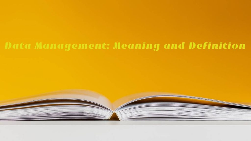 Data Management_ Meaning and Definition