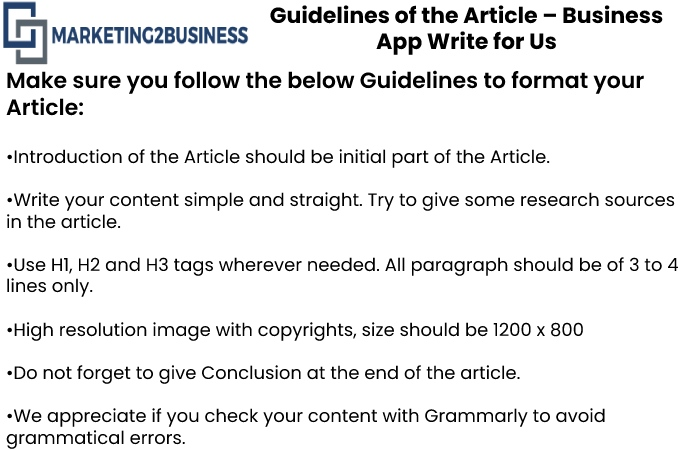Guidelines for the article Marketing2Business