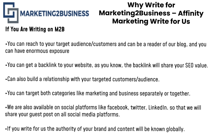 Why write for us Marketing2Business