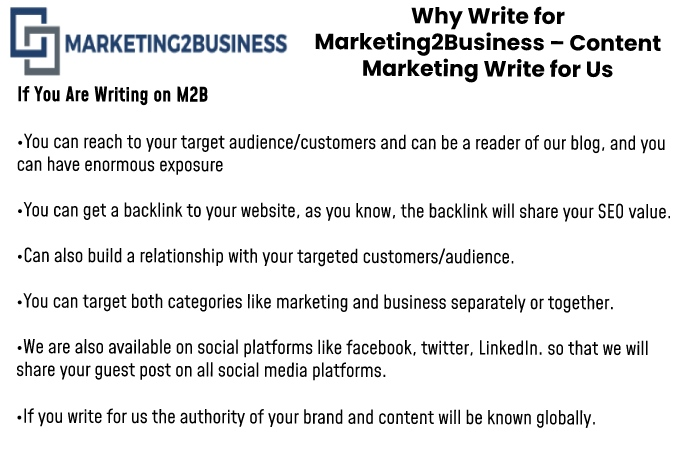 Content Marketing Write for Us