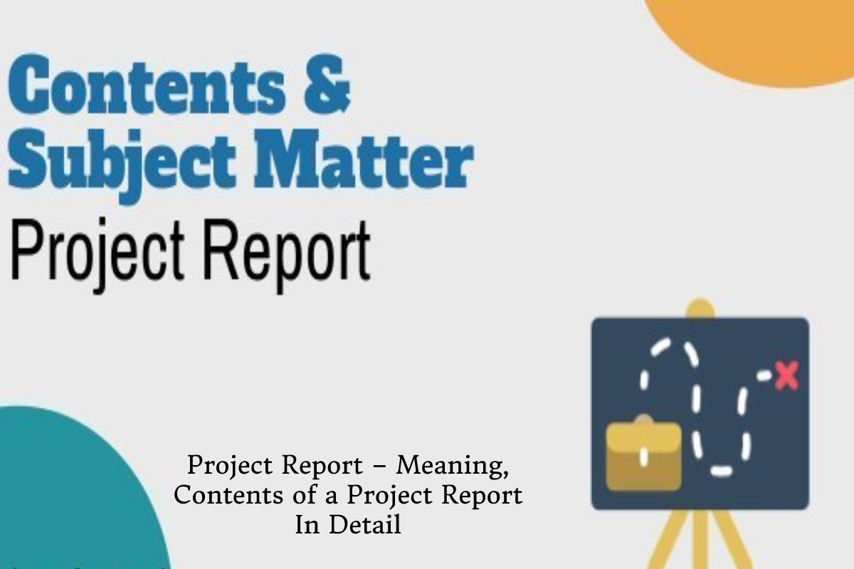 Project Report – Meaning, Contents of a Project Report In Detail